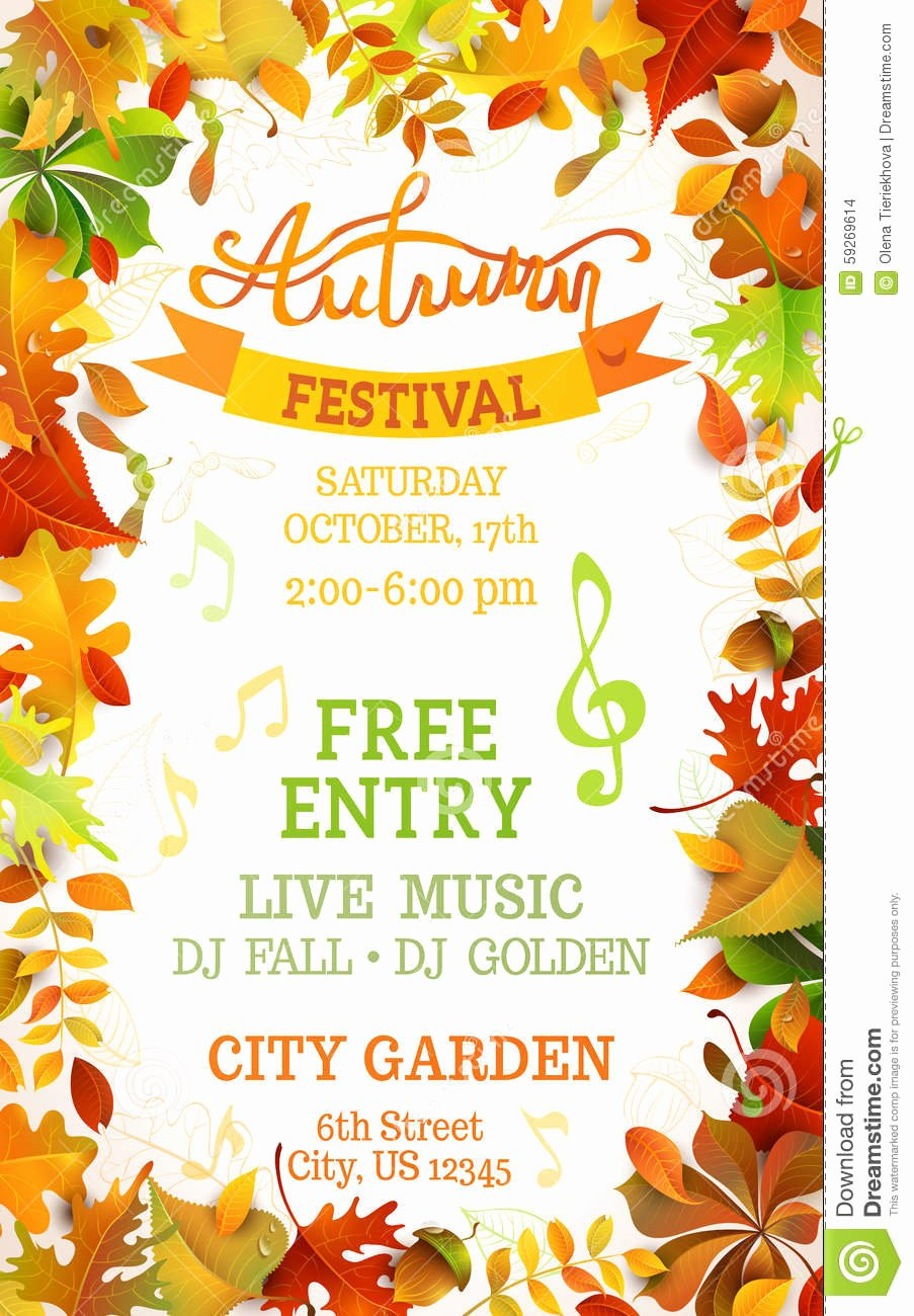 Free Fall Flyer Template Best Of Fall Festival Template Stock Vector Image Of Letter