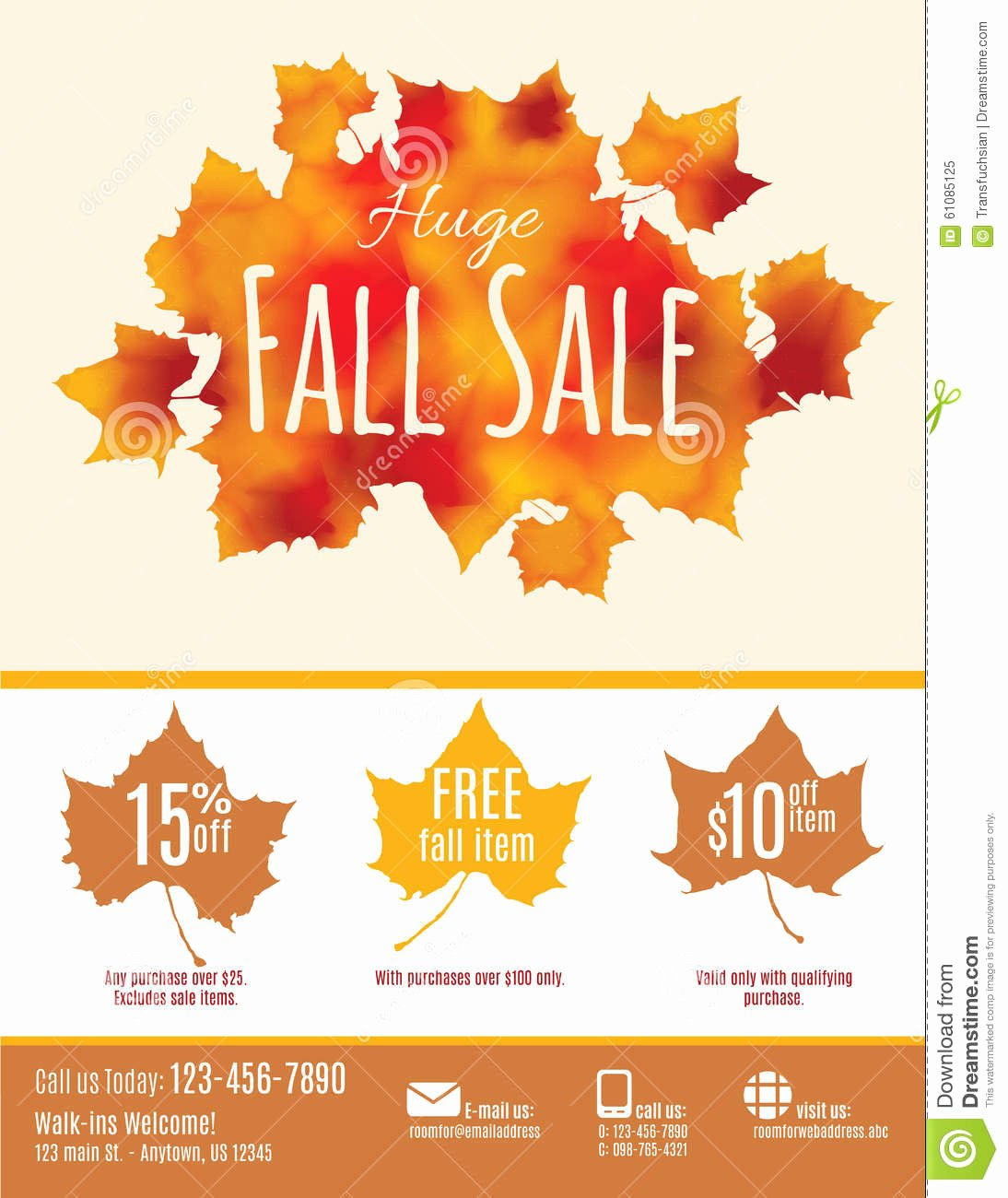 Free Fall Flyer Template Best Of Fall Sale Flyer Template Stock Vector I and the Best Fall
