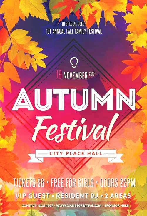 Free Fall Flyer Template Best Of Free Fall Backgrounds Autumn Background Template Templates
