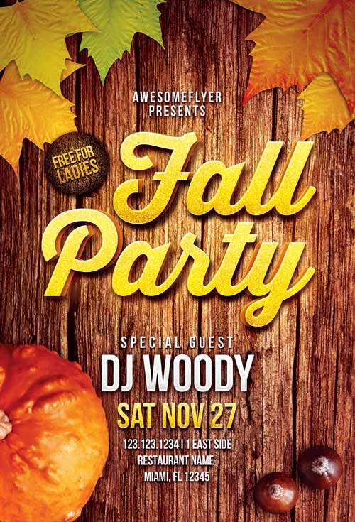 Free Fall Flyer Template Elegant Download the Fall Party Flyer Template for Shop