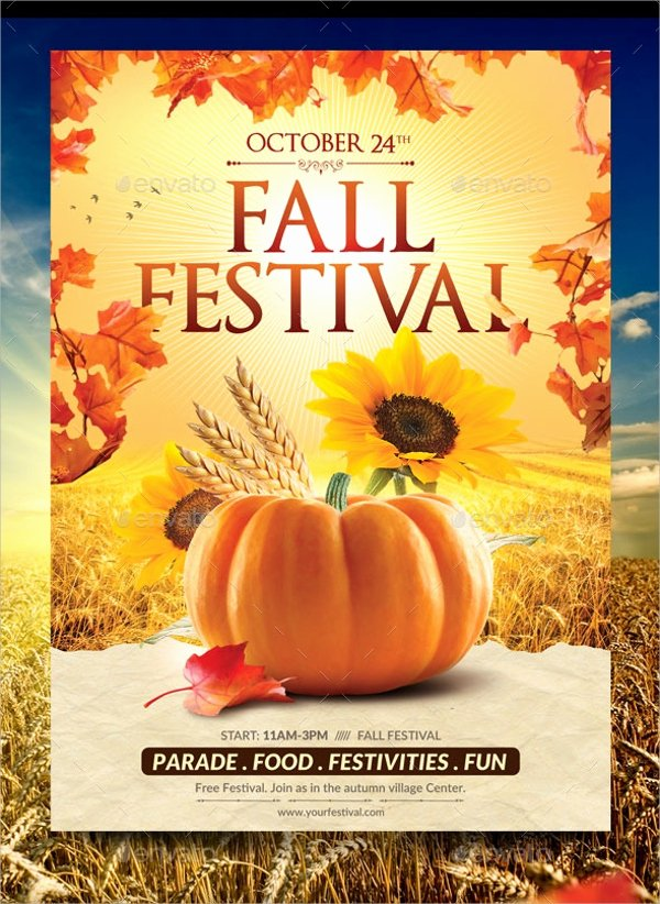 Free Fall Flyer Template Fresh 21 Fall Flyer Templates