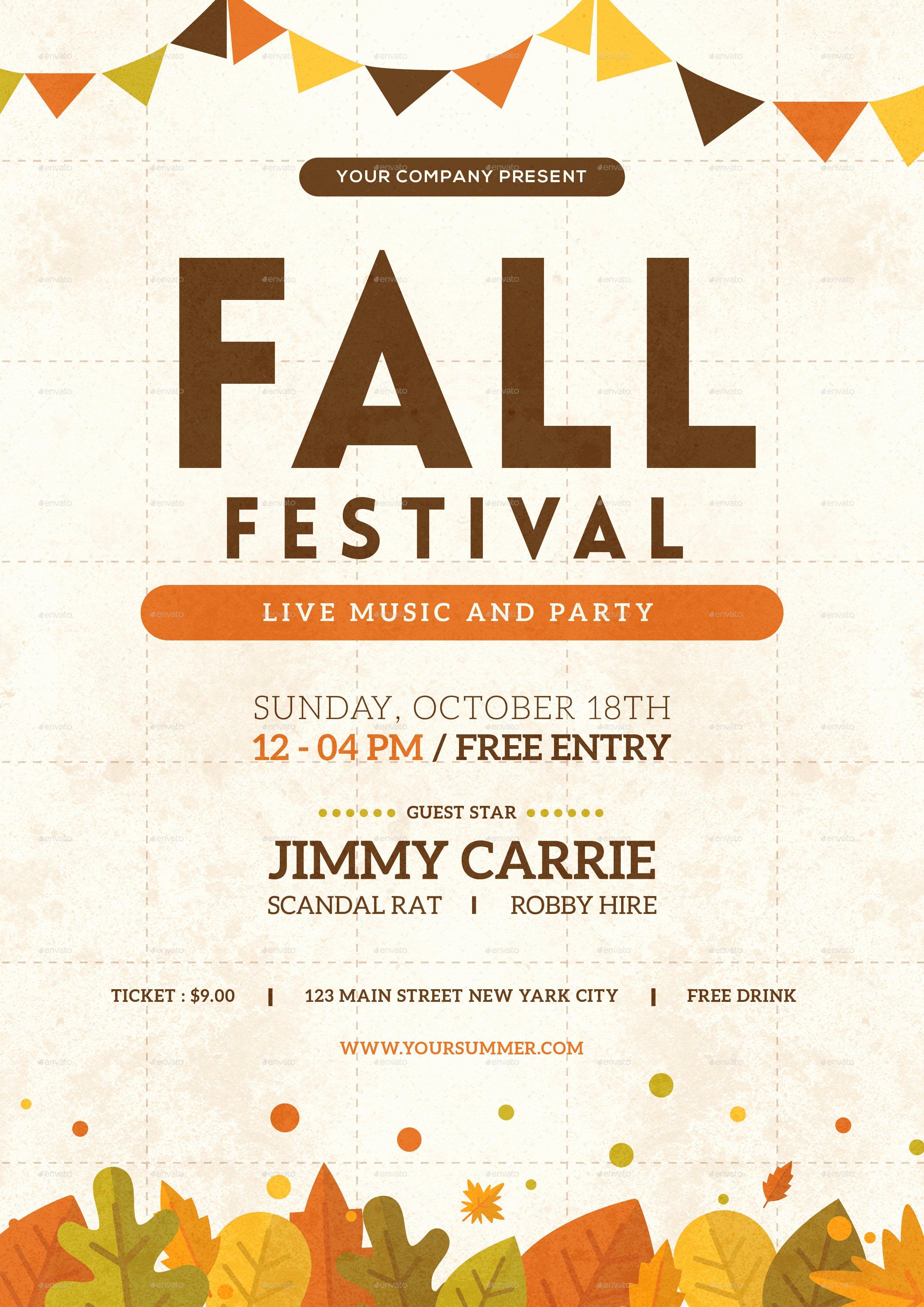 Free Fall Flyer Template Inspirational Fall Festival Flyer by tokosatsu