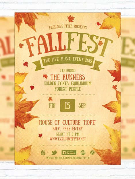 Free Fall Flyer Template Inspirational Fall Festival – Premium Flyer Template Cover