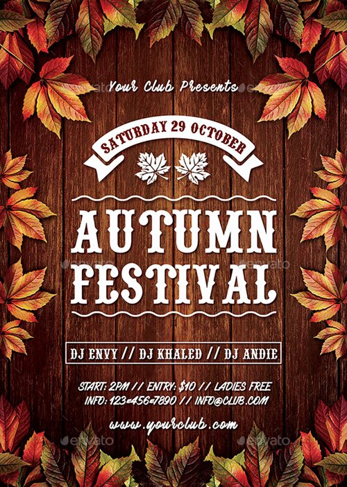 Free Fall Flyer Template New 30 Premium and Free Fall Festival and Party Flyer Designs