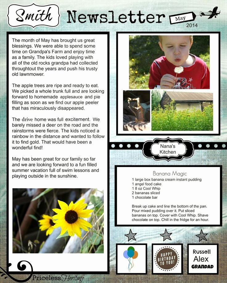 Free Family Newsletter Template Awesome 12 Best Family Reunion Newsletter Images On Pinterest