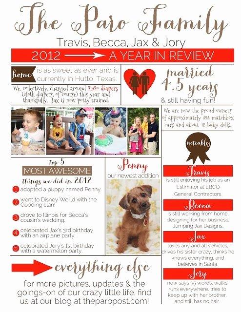 Free Family Newsletter Template Best Of Family Newsletter Template Christmas