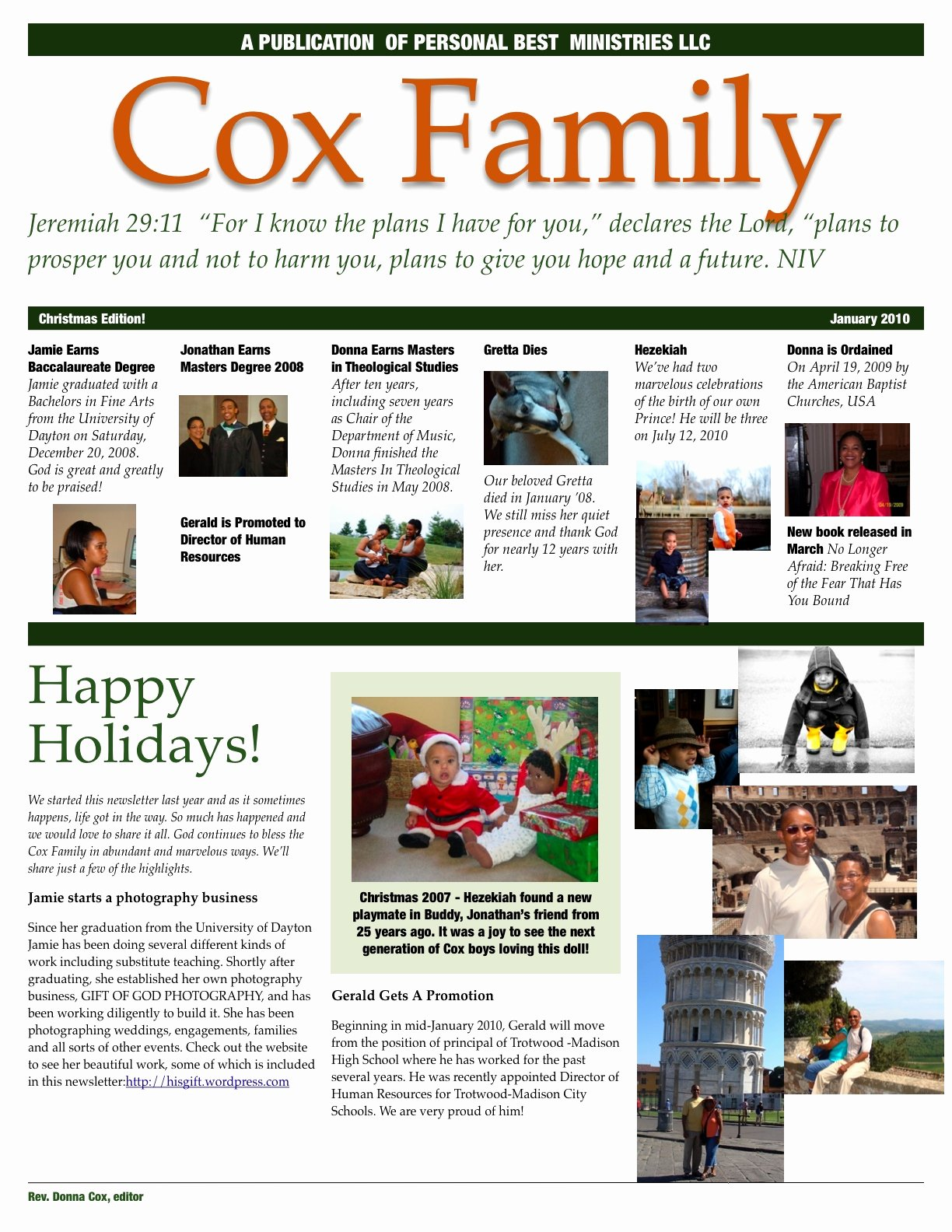 Free Family Newsletter Template Elegant Family Newsletter