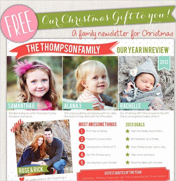 Free Family Newsletter Template Fresh 38 Christmas Email Newsletter Templates Free Psd Eps