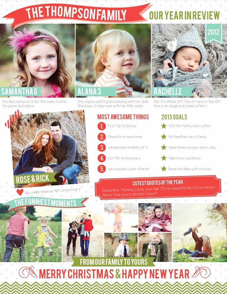Free Family Newsletter Template Fresh Free Family Newsletter Template 2012 A Year In Review