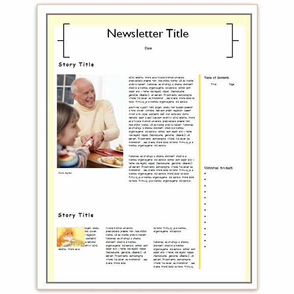 Free Family Newsletter Template Fresh Making A Family Newsletter In Word Tips and Templates to