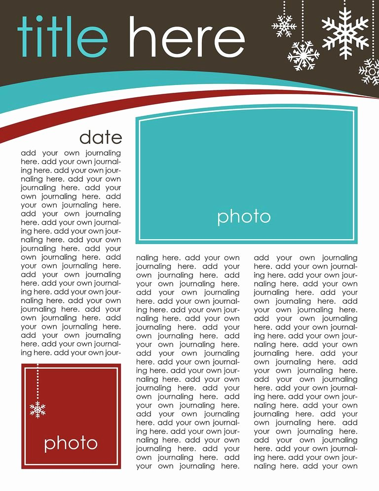 Free Family Newsletter Template Inspirational 49 Free Christmas Letter Templates that You Ll Love
