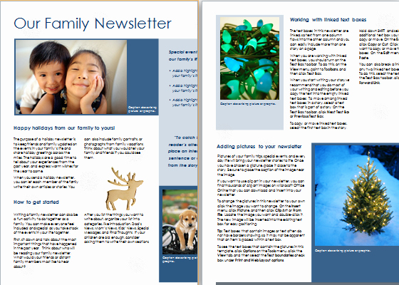 Free Family Newsletter Template Inspirational Family Christmas Newsletter Template at Word Documents