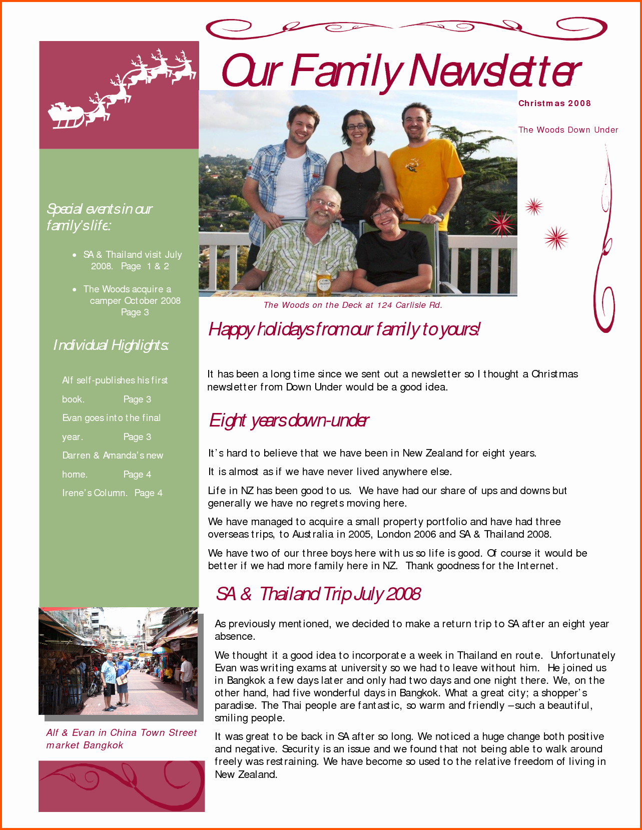 Free Family Newsletter Template Inspirational Family Newsletter Template Microsoft Word Templates