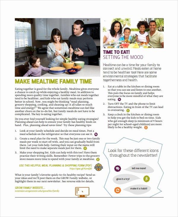 Free Family Newsletter Template Lovely 10 Family Newsletter Templates