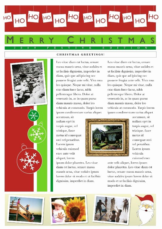 Free Family Newsletter Template Luxury 19 Free Christmas Letter Templates Downloads Free