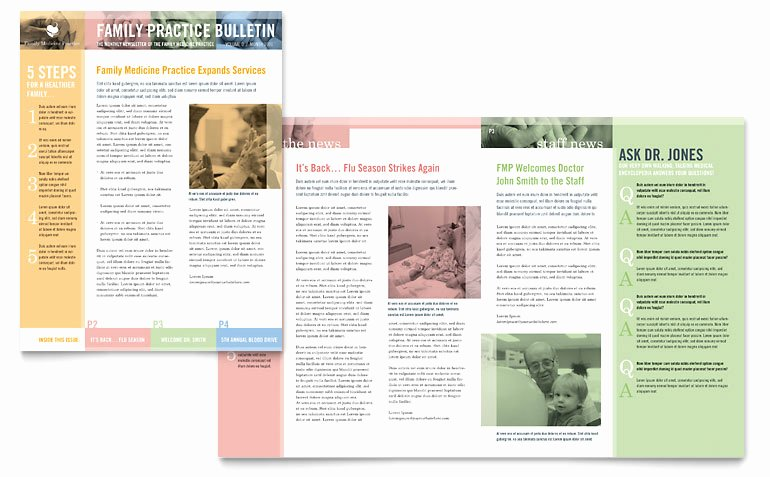 Free Family Newsletter Template Unique Family Doctor Newsletter Template Word & Publisher