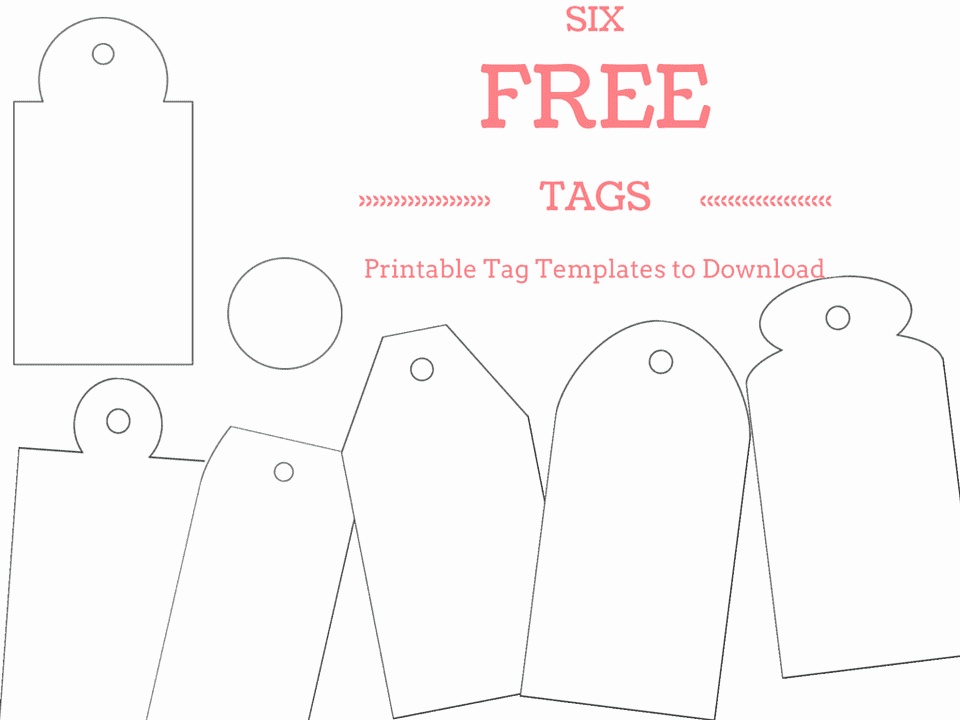 Free Favor Tag Template Elegant 6 Free Printable Gift Tag Templates