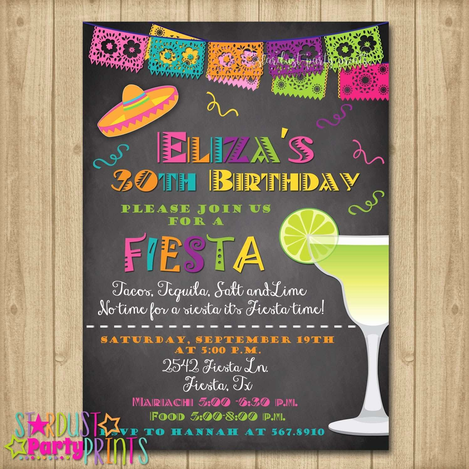 Free Fiesta Invitation Template Elegant Elegant Fiesta Party Invitation Templates Free