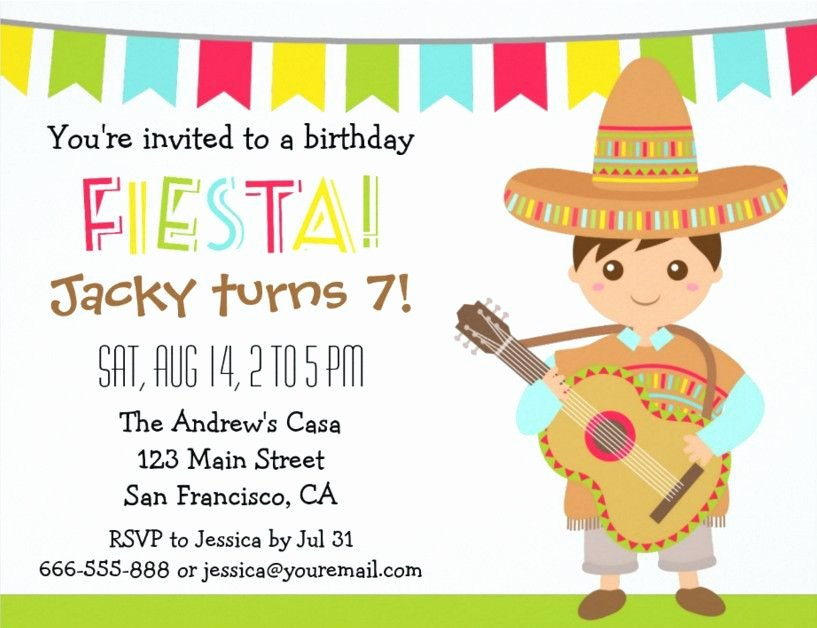 Free Fiesta Invitation Template Elegant Mexican Fiesta Party Invitation Templates Free Mexican