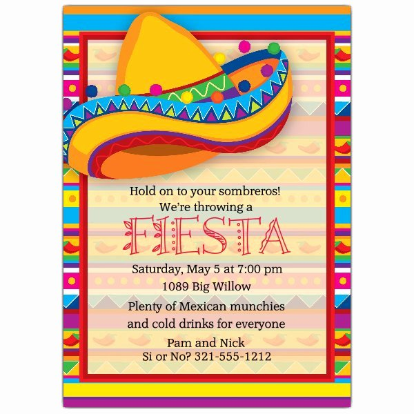 Free Fiesta Invitation Template Fresh Big sombrero Fiesta Invitations
