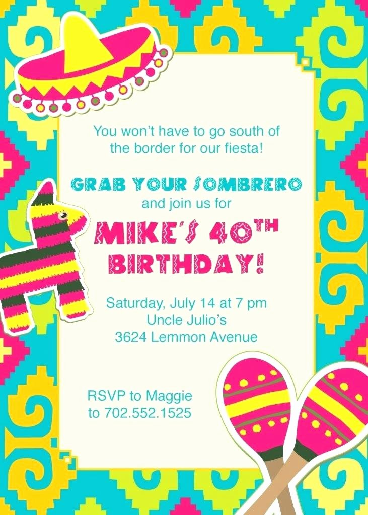 Free Fiesta Invitation Template Inspirational Fiesta Party Invitation Templates Free Invitations Mexican