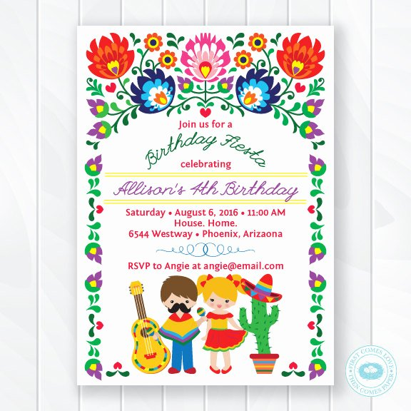 Free Fiesta Invitation Template Lovely Birthday Invitation Templates Fiesta Birthday Invitations