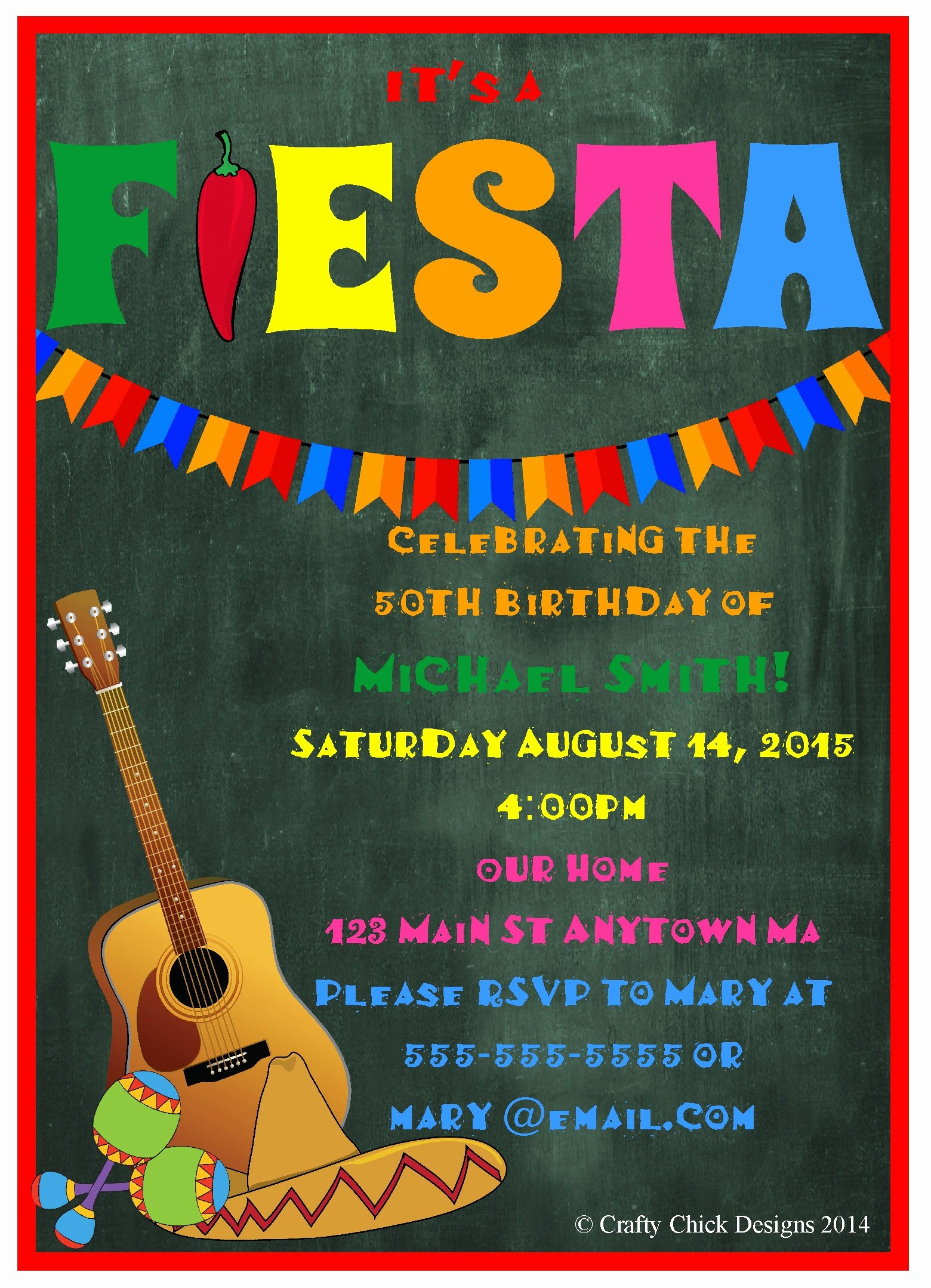 Free Fiesta Invitation Template Lovely Mexican Fiesta Party Invitation Templates Free Editable