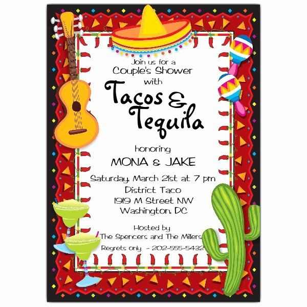 Free Fiesta Invitation Template Lovely Mexican Party Fiesta Invitations