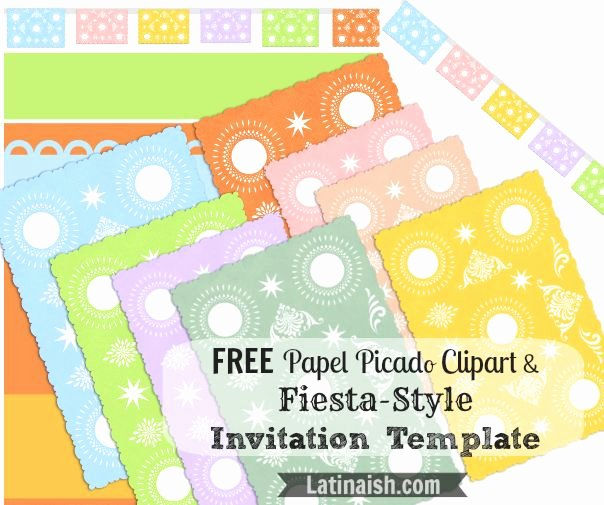 Free Fiesta Invitation Template New Free Papel Picado Clipart and Fiesta Style Invitation