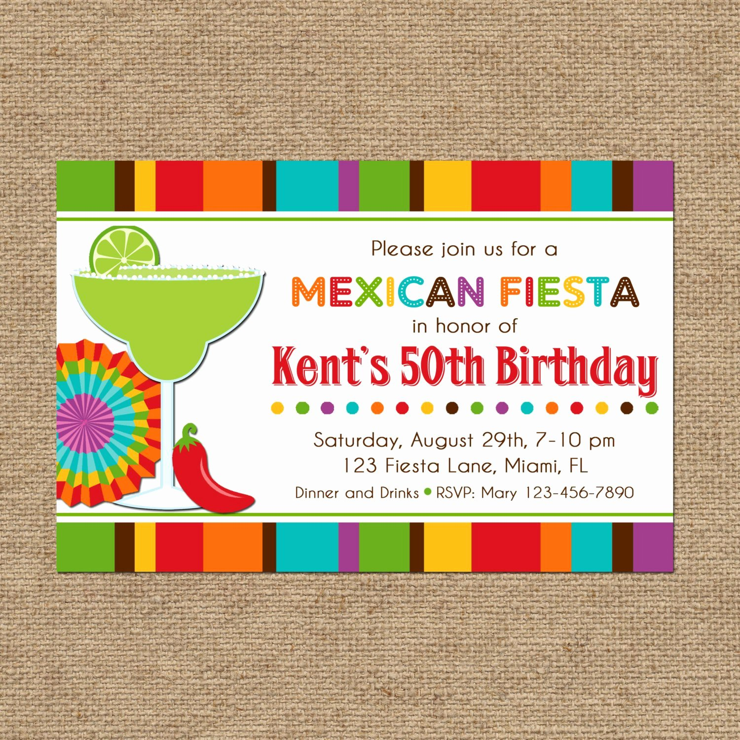 Free Fiesta Invitation Template Unique Mexican Fiesta Party Invitation Printable or Printed with Free