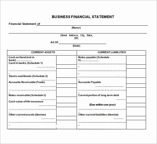 Free Financial Statement Template Awesome 8 Free Financial Statement Templates Word Excel Sheet Pdf