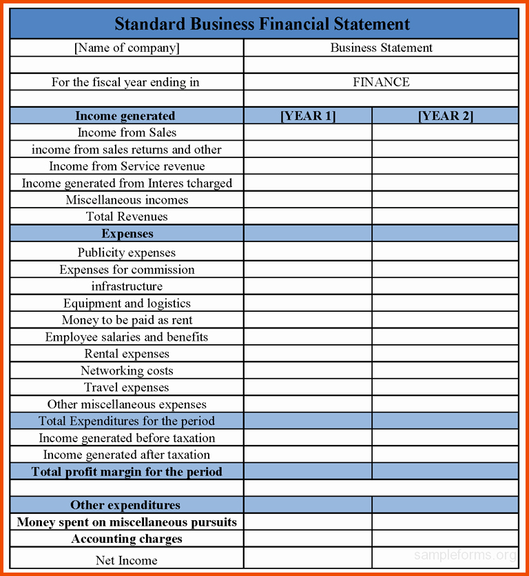 Free Financial Statement Template Awesome Financial Statements Templates In E Statement Template