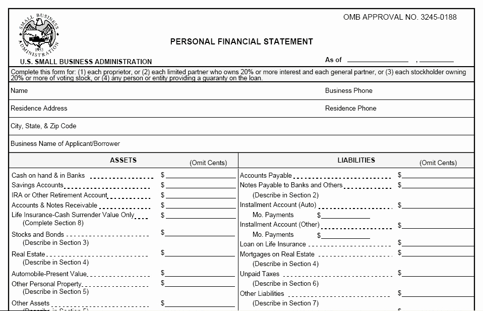 Free Financial Statement Template Fresh 3 Personal Financial Statement Templates Excel Xlts
