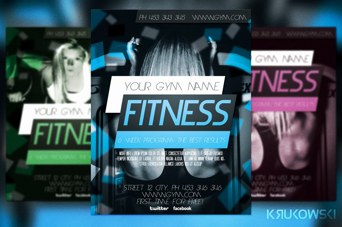 Free Fitness Flyer Template Awesome Fitness Flyer Template Flyer Templates On Creative Market