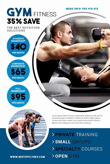 Free Fitness Flyer Template Awesome Fitness Gym Free Flyer Template