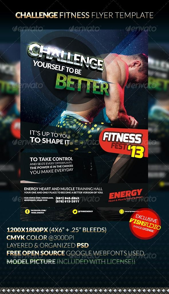 Free Fitness Flyer Template Best Of Challenge Fitness Flyer Template