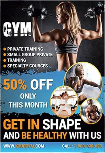 Free Fitness Flyer Template Best Of Fitness Gym – Free Flyer Psd Template – by Elegantflyer