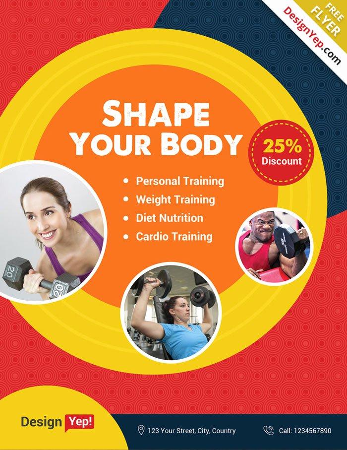 Free Fitness Flyer Template Elegant 32 Free Business Flyer Templates Psd for Download Designyep