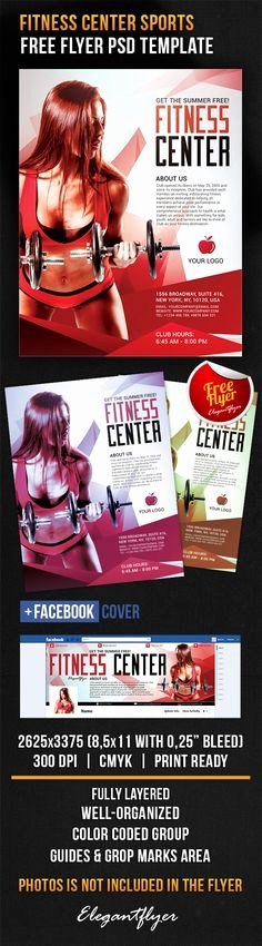 Free Fitness Flyer Template Elegant Free Fitness Gym Flyer Template Psd