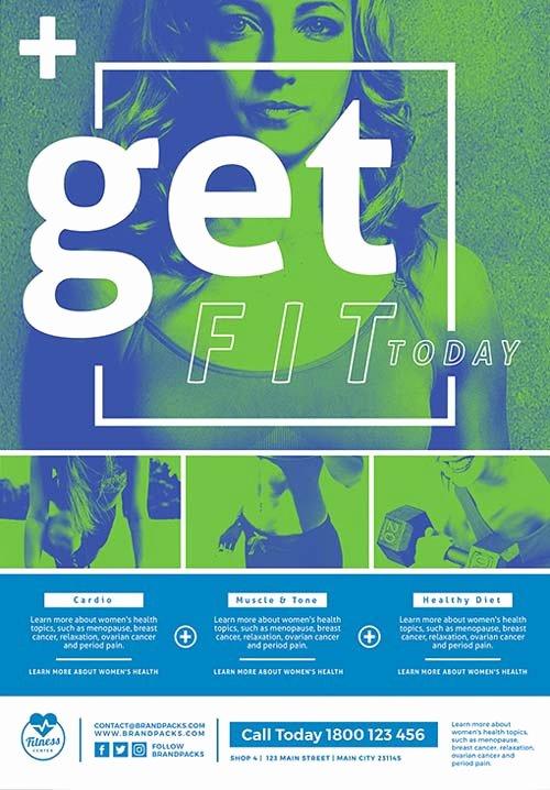 Free Fitness Flyer Template Elegant Free Fitness Poster and Flyer Template Free Flyer for