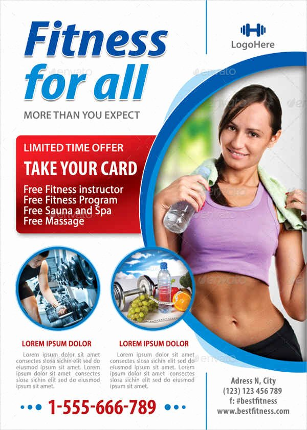 Free Fitness Flyer Template Fresh 58 Fitness Flyer Templates Psd Word Ai Eps Vector