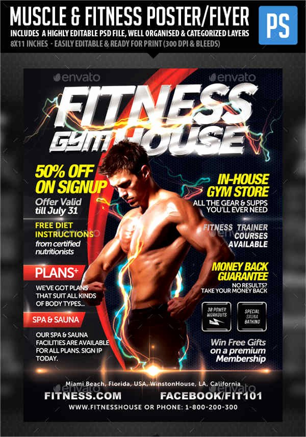 Free Fitness Flyer Template Fresh 7 Gym Fitness Flyers Psd Eps Vector Indesign File