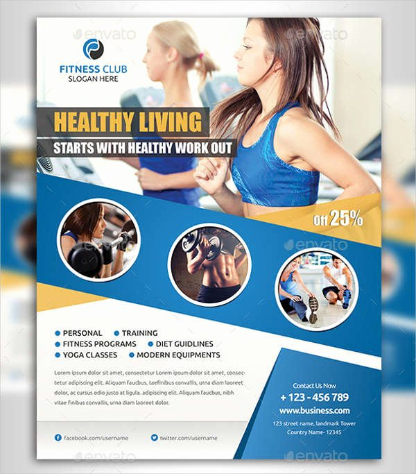 Free Fitness Flyer Template Inspirational 63 Fitness Flyer Examples Psd Ai Eps Word formats