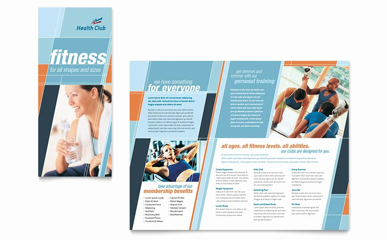 Free Fitness Flyer Template Inspirational Health & Fitness Gym Brochure Template Word & Publisher