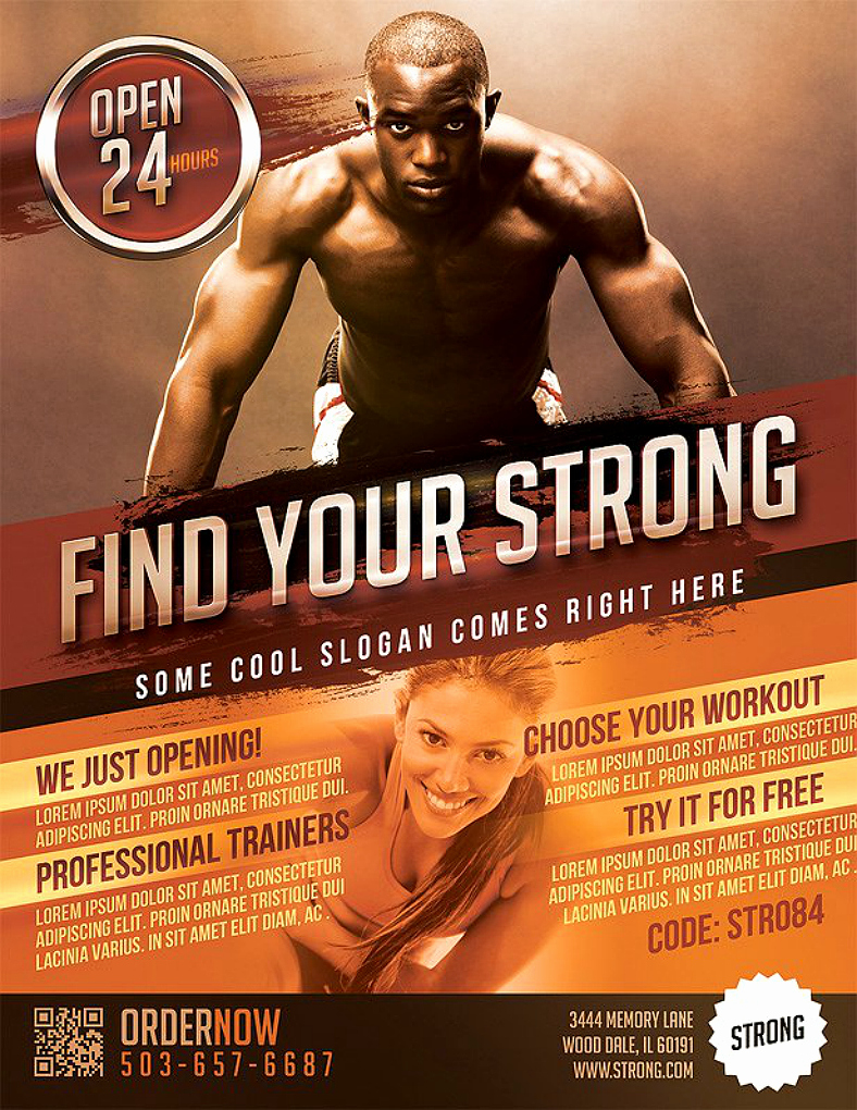 Free Fitness Flyer Template Inspirational Promote Health and Fitness with these 18 Gym Flyer