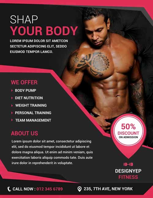 Free Fitness Flyer Template Lovely Free Download Fitness and Gym Psd Shop Flyer Template