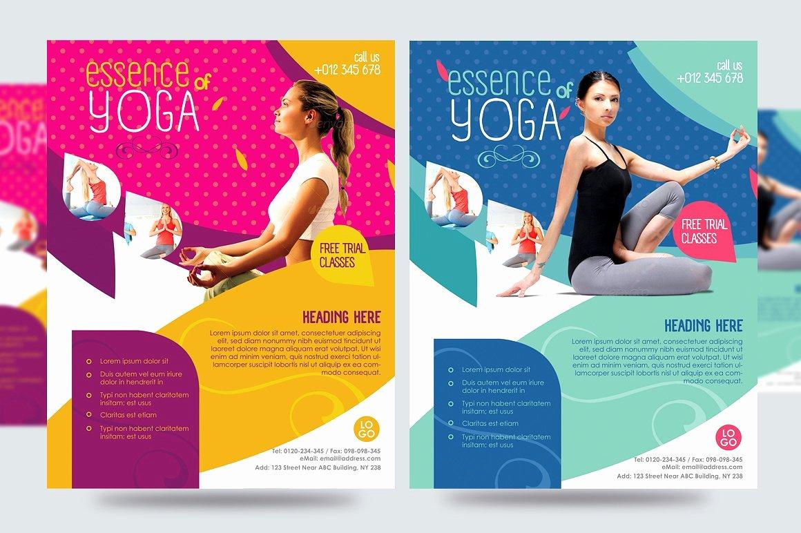 Free Fitness Flyer Template Lovely Yoga Flyer Fitness Flyer V1 Flyer Templates Creative