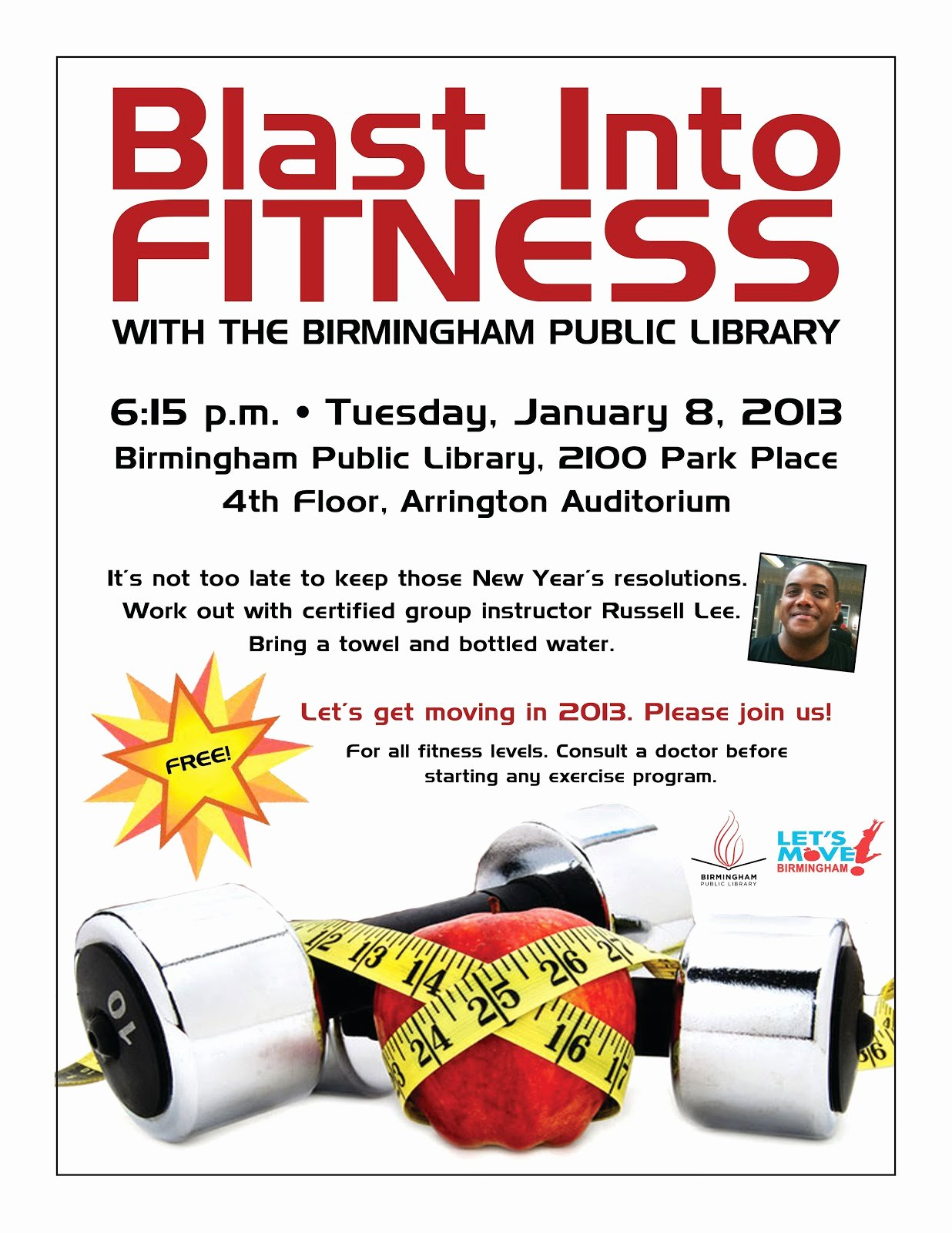 Free Fitness Flyer Template Luxury Birmingham Public Library Blast Into Fitness with A Free