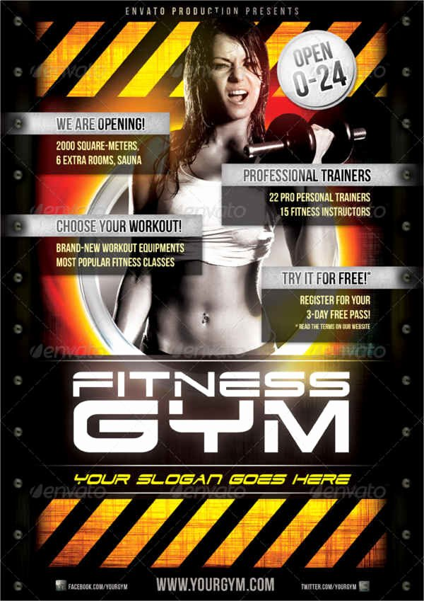 Free Fitness Flyer Template New 23 Fitness Flyer Designs Psd Word Publisher