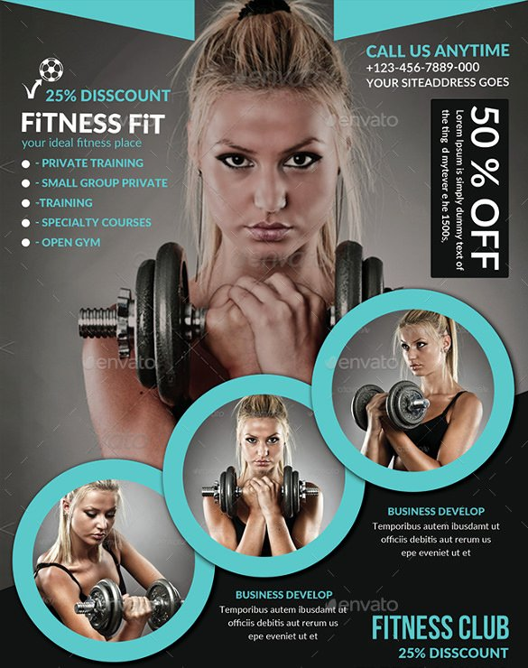 Free Fitness Flyer Template New 36 Fitness Flyer Templates Word Psd Ai formats